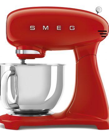 Smeg full red stand mixer SMF03RDEU