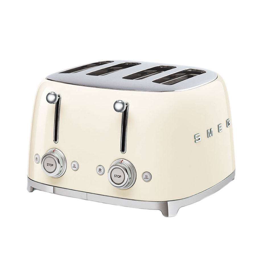Smeg 4 slice Toaster TSF03CRSA