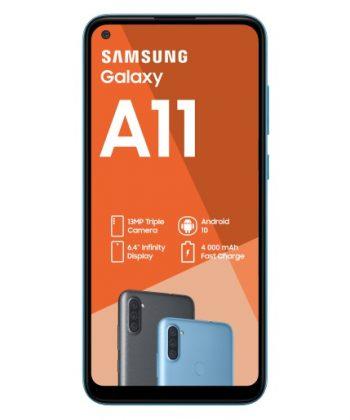 Samsung Galaxy A11 Dual Sim 32GB Blue - SM-A115FZBDXFA
